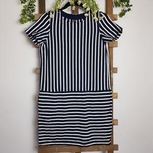 ❤ UNIQLO Boxy Striped Dress Pockets Size Medium
